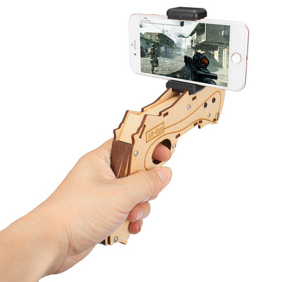 아재몰 해외직배송 비디오게임 컨트롤러_DIY Augmented Reality AR Toy with Cell Phone Stand Holder Protable Wood AR