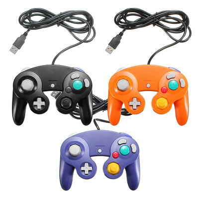 아재몰 해외직배송 비디오게임 컨트롤러_USB Classic Game Controller PC Wired Gamepad For Gamecube NGC