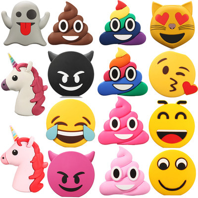 아재몰 해외 직배송 스마트폰 보조배터리 부품_Emoji Unicorn Cartoon Cute Portable Power Bank Shell DIY Battery Case Box for Samsung S8 iPhone 8