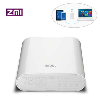 아재몰 해외 직배송 스마트폰 보조배터리_Original Xiaomi ZMI MF855 7800mAh 120Mbps 3G 4G Wireless WiFi Router Power Bank