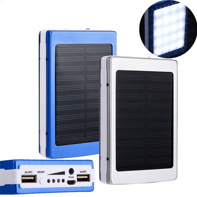아재몰 해외 직배송 스마트폰 보조배터리 부품_Bakeey 5x18650 Dual USB Solar Energy Camping Flashlight 20000mAh Battery Case Power Bank Box
