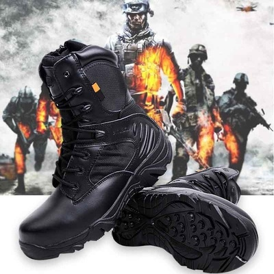 아재몰 해외직배송_밀리터리_군화_Army Men Commando Combat Desert Outdoor Hiking Boots Landing Tactical Military Shoes