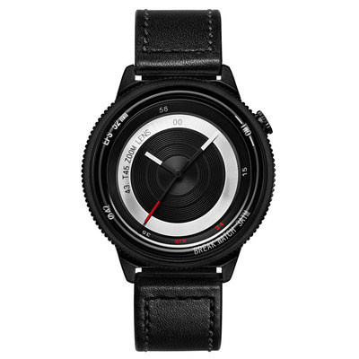 아재몰 디자인 손목시계_BREAK T45 Unique Style Unisex Watch Leather or Rubber Strap Quartz Wrist Watch