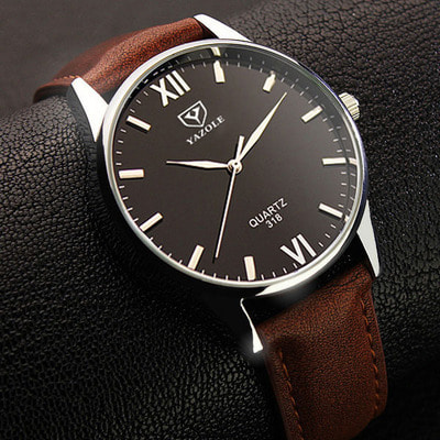 아재몰 아재 일반 손목시계_YAZOLE 318 Men Watch Luminous Display Casual Style Clock Quartz Watches