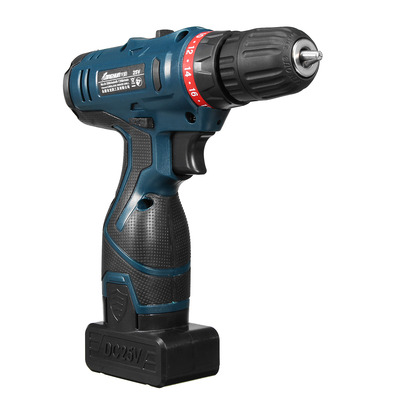아재몰 해외직배송_전동공구_드릴_Lomvum 220V Input 25V Output  Li-Ion Cordless Electric Hammer Drill Driver Hand Kit 2 Speed LED