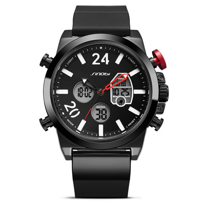 아재몰 디지털 손목시계_SINOBI 9732 Dual Display Digital Watch Men Chronograph Alarm Luminous Display Fashion Sport Watch
