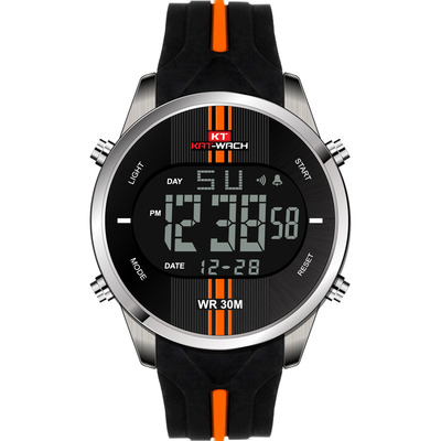 아재몰 디지털 손목시계_KAT-WACH KT716 Digital Watch Fashion Silicone Stopwatch Waterproof Watch Alarm Outdoor Sport Watch