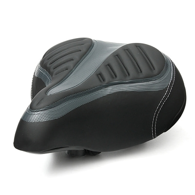 아재몰 자전거안장_Wide Big Bum Bike Bicycle Cycling Gel Cruiser Extra Comfort Soft Pad Saddle Seat