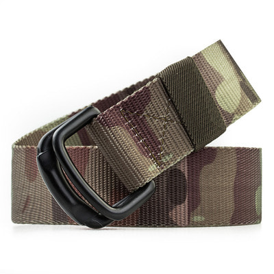 아재몰 해외직배송_밀리터리_벨트_Men New Casual Metal Buckle Nylon Belt Double Ring Military Belt