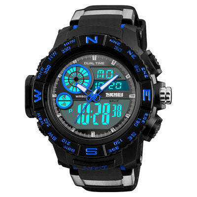 아재몰 디지털 손목시계_SKMEI 1332 Dual Display Digital Watch Men Chronograph Alarm Watch Waterproof Outdoor Sport Watch