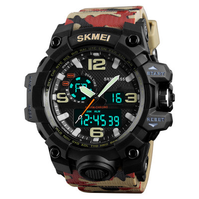 아재몰 디지털 손목시계_SKMEI 1155 50M Waterproof Men Sport Watch Fashion Luminous Display Digital Watch