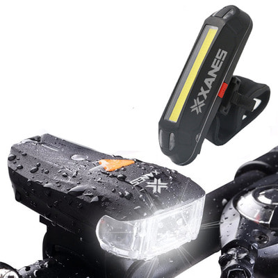 아재몰 자전거 라이트 조명세트_XANES 600LM German Standard Bike Front Light 500LM USB Rechargeable LED Bike Taillight Set
