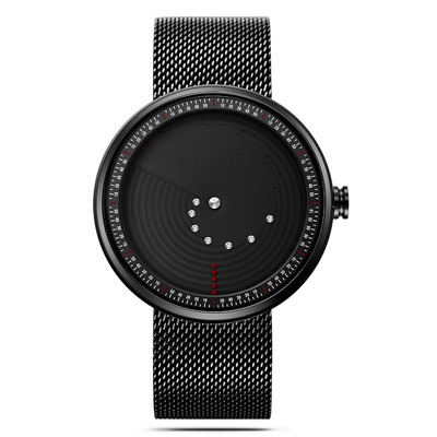 아재몰 디자인 손목시계_SINOBI 9768 Ultrathin Space-time Creative Watches Fashionable Stainless Steel Strap Quartz Watch