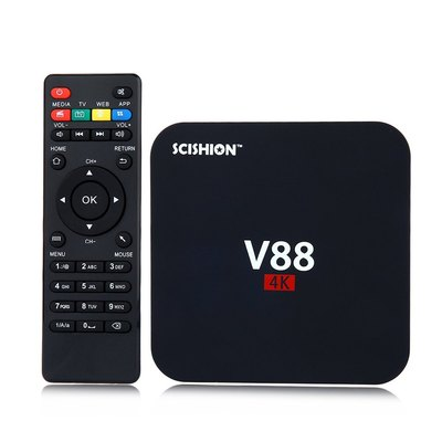아재몰 해외직배송_셋톱박스_SCISHION V88 RK3229 4K Android 5.1 1G 8G WIFI LAN Dolby DTS Media Player TV Box Android Mini PC