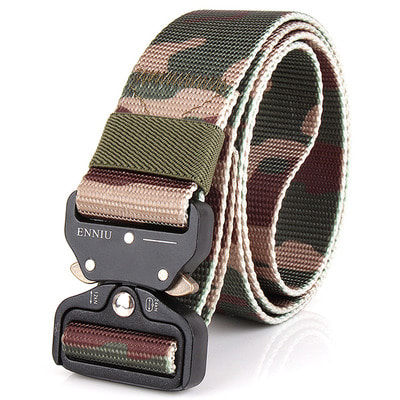 아재몰 해외직배송_밀리터리_벨트_Mens Nylon Outdoor Military Combat Belt Durable Heavy Duty Buckle Waistband