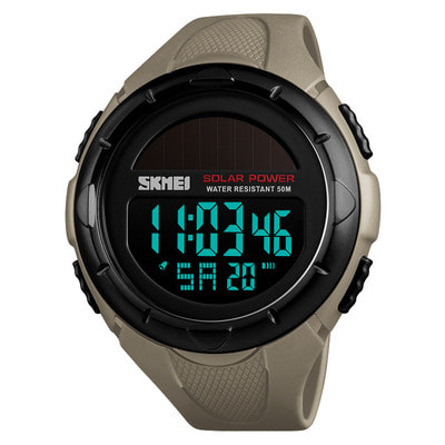 아재몰 디지털 손목시계_SKMEI 1405 Solar Power Digital Watch Stopwatch Luminous Display Alarm Calendar Outdoor Sport Watch
