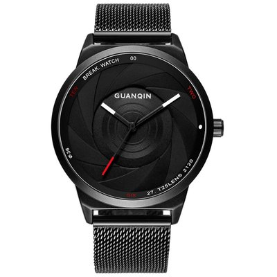 아재몰 아재 일반 손목시계_GUANQIN GS19074 Men Watch Luxury Fashion Creative Steel Strap Male Quatz Wrist Watch