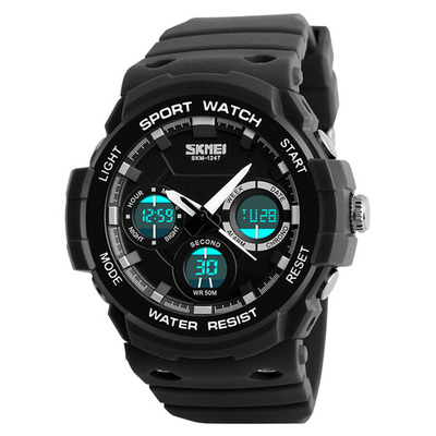 아재몰 디지털 손목시계_SKMEI 1247 Dual Display Digital Watch Men Luminous Chronograph Alarm Watch Outdoor Sport Watch