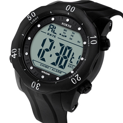 아재몰 디지털 손목시계_NORTH 2003 Men Watch Sport Stopwatch Alarm Silicone Strap Wrist Digital Watch