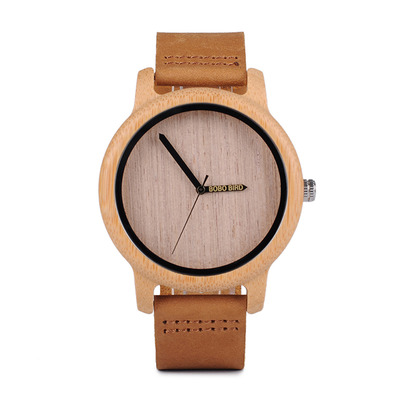 아재몰 디자인 손목시계_BOBO BIRD WA22 Simple Design Wood Wrist Watch Leather Strap Unisex Watches