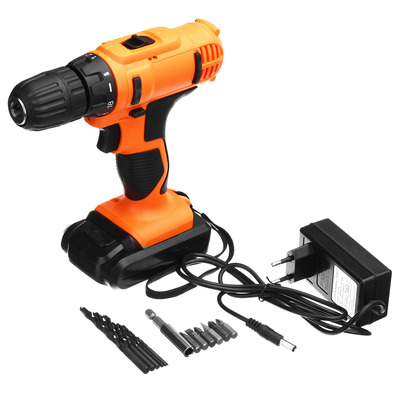 아재몰 해외직배송_전동공구_드라이버_18V Electric Screwdriver Cordless Hammer Impact Power Drill Driver Rechargeable with 13Pcs Drill Bit
