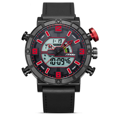 아재몰 디지털 손목시계_SINOBI 9733 Men Dual Display Digital Watch Fashion Sport Chronograph Alarm Luminous Display Watch