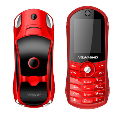 아재몰 해외직배송_피쳐폰_NEWMIND F8 Car Model Cellphone 1.8 1900mAh Flashlight Music Player Dual Sim Mini Card Phone 국내전화개통불가