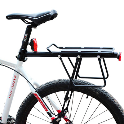 아재몰 자전거안장_BIKIGHT Bicycle Bike Cargo Rack Rear Back Seat Carrier Shelf Quick Release Luggage Protect Pannier