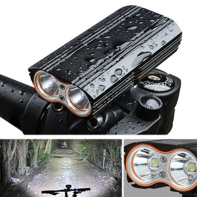 아재몰 자전거 헤드라이트 조명_XANES DL06 1200LM 2T6 150 Large Floodlight 6000mAh Battery Bike Light 4 Modes USB Rechar