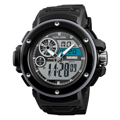 아재몰 디지털 손목시계_SKMEI 1341 Digital Watch Military Chronograph 2 Time 50M Waterproof Men LED Wrist Watch