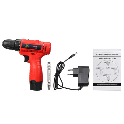 아재몰 해외직배송_전동공구_드라이버_110V-240V Cordless Electric Screwdriver 1 Battery 1 Charger Drilling Punching Power Tools