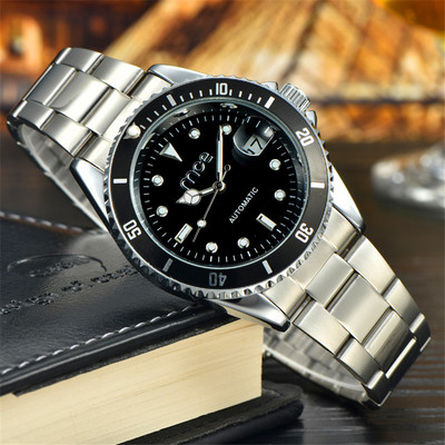 아재몰 기계식 손목시계_MCE 60034 Man Self-wind Mechanical Auto Date Stainless Steel Luxury Business Wrist Watch