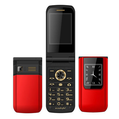 아재몰 해외직배송_피처폰_MAFAM E9 2.6 3800mAh Slim Fashion Flip Dual Touch Screen Dual Sim Card Dual Standby Feature Phone