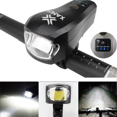 아재몰 자전거 헤드라이트 조명_XANES SFL04 750LM T6 LED German Standard Smart Induction Bike Light IPX4 USB Rechargeable Large F