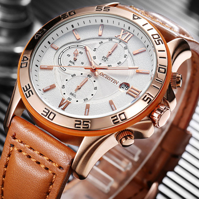 아재몰 아재 일반 손목시계_OCHSTIN GQ068A Multi-function Chronograph Men Wrist Watch Business Style Quartz Watches