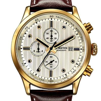아재몰 디자인 손목시계_OCHSTIN GQ042B Luxury Men Quartz Watch Fashion Sub-dail Leather Straps Sport Watch