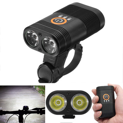 아재몰 자전거 헤드라이트 조명_XANES DL09 1000LM 2 x XPE LED 150 Wide Angle 5 Modes Smart Power Indicator IPX6 Bike Light