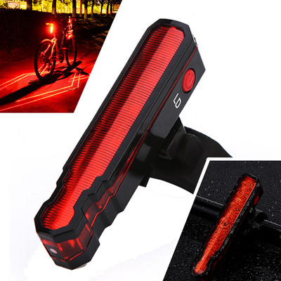 아재몰 자전거 후미등 조명_XANES TL12 3528LED/LD 6 Modes USB Charging IPX5 Waterproof Spider Lasers Bike Tail Light