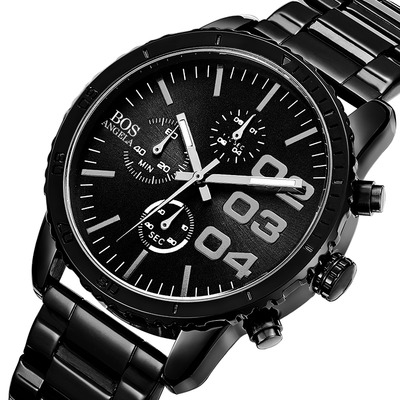 아재몰 아재 일반 손목시계_ANGELA BOS 8013G Men Watch Luxury Timer Stainless Steel Strap Male Quartz Wrist Watch