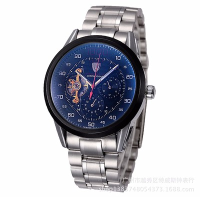 아재몰 기계식 손목시계_Tevise 8378 Automatic Mechanical Men Watch Count-downn Stainless Steel Wristwatch