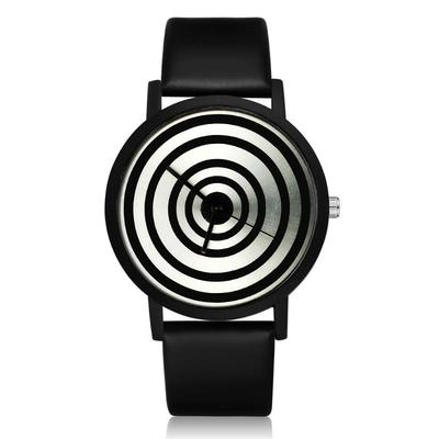 아재몰 디자인 손목시계_GAETY G417 Fashion Women Men Quartz Watch Creative Geometric Pattern Wrist Watch