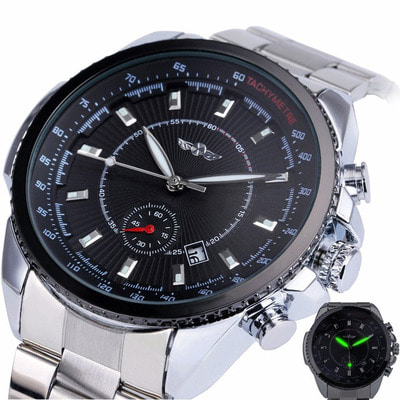 아재몰 기계식 손목시계_227 Business Style Men Wrist Watch Calendar Sub-dial Automatic Mechanical Watch