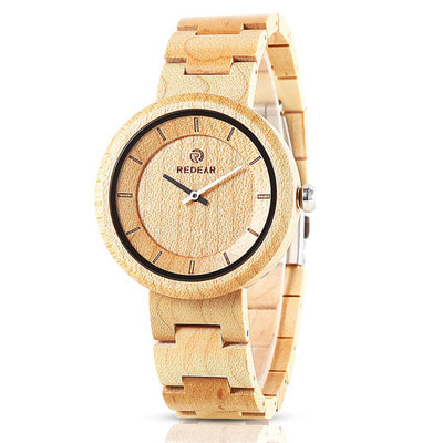 아재몰 디자인 손목시계_REDEAR SJ1628 Simple Design Unisex Wood Wrist Watch Wood Band Quartz Watches