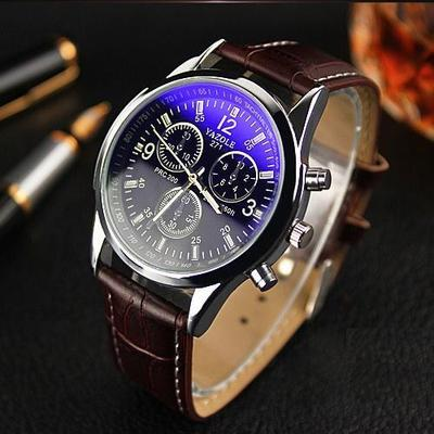 아재몰 아재 일반 손목시계_YAZOLE 271 Men Watch Fashion Style Leather Strap Quartz Wrist Watch