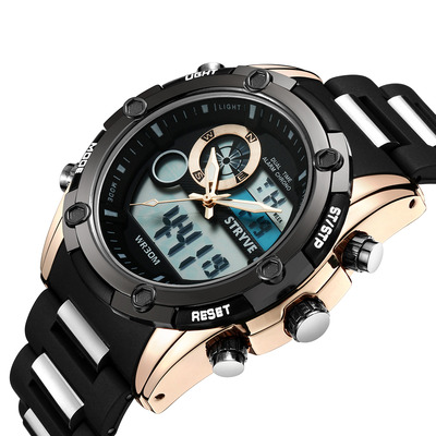 아재몰 디지털 손목시계_STRYVE S8006 Dual Display Digital Watch Chronograph Alarm Stopwatch Luminous Display Sport Watch