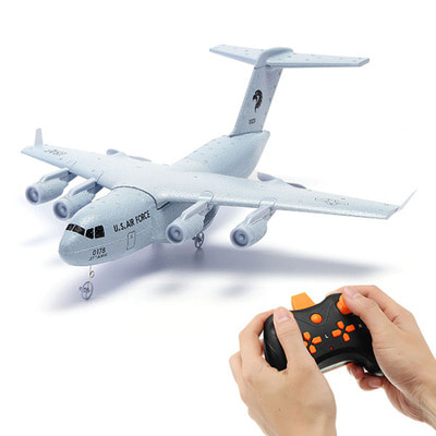 아재몰 해외직배송 RC 비행기_C17 C-17 Transport 373mm Wingspan EPP DIY RC Airplane RTF