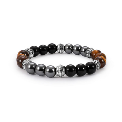 아재몰 아재 팔찌_Vintage Tiger-eye Mens Beaded Bracelet Natural Stone Beads Buddha Bracelets for Men
