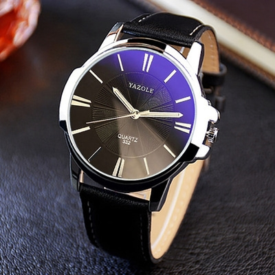 아재몰 아재 일반 손목시계_YAZOLE 332 Fashion Simple Style Business Men Wrist Watch Leather Quartz Watch