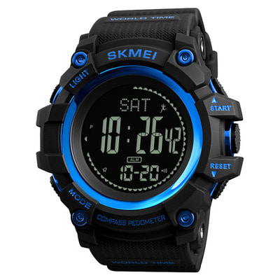 아재몰 디지털 손목시계_SKMEI 1356 Compass Pedometer Calorie Sport Watch Chronograph World Time Stopwatch Digital Watch