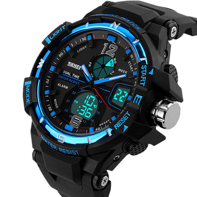 아재몰 디지털 손목시계_SKMEI 1148 Dual Display Digital Watch Men Luminous Chronograph Alarm Sport Watch Outdoor Watch